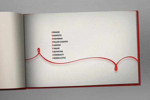 iVillage nbc universal brand book renato castilho write down everything red white black logo identity graphic concept Style