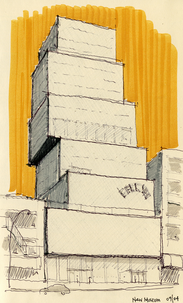 NY Chicago Architecture Sketches on Behance