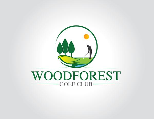 Logo Design For Woodforest Golf Club On Behance