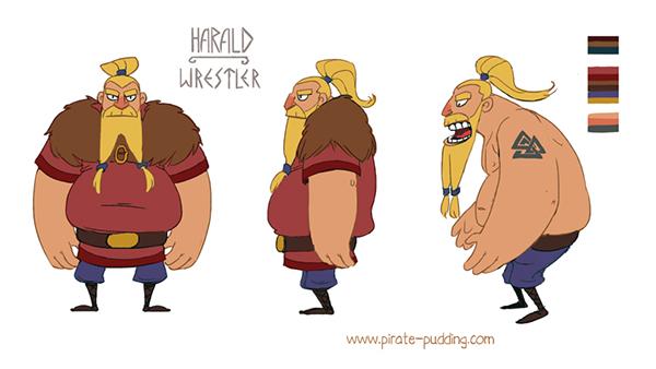 2d Character Design In Illustrator : Shieldmaiden on behance