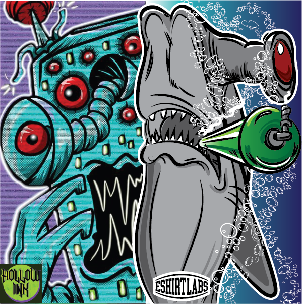 Collaborations collabs eshirtlabs ILLUSTRATION  Illustrator instagram popart