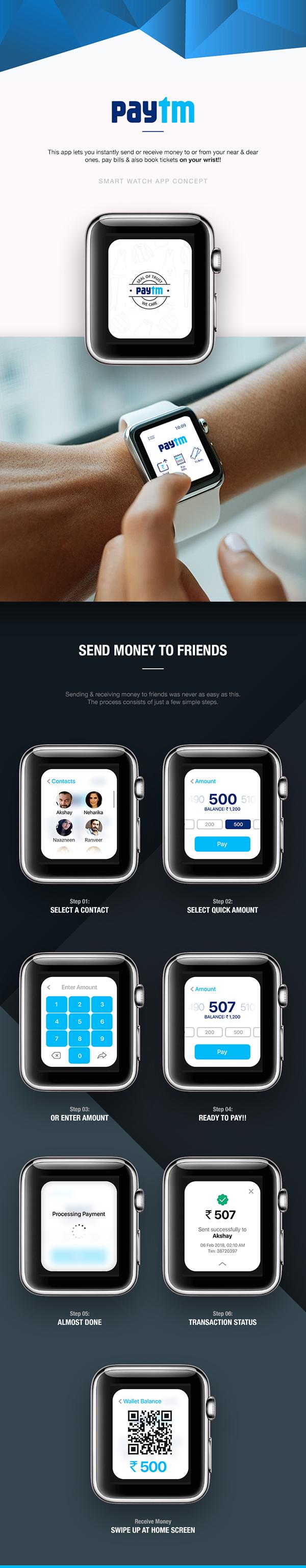Paytm [Smart Watch App Concept]