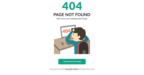 404 error page template free download on student show