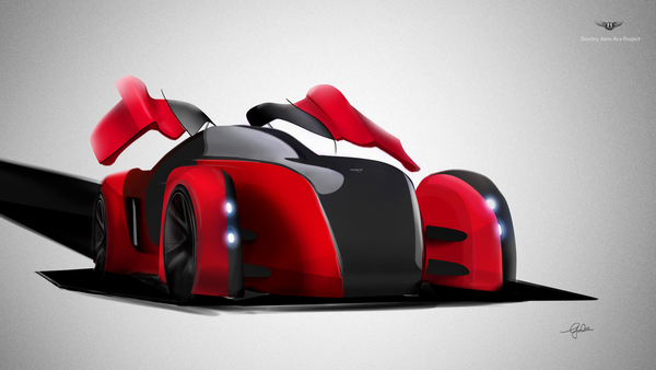 bentley concept car Royal College of Art Vehicle Design aerodynamic product automotive   Colour & Material COLOUR & TRIM