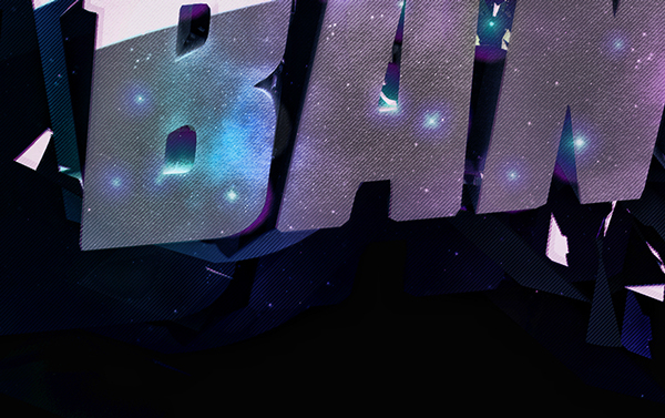 BANG bang! 3D light night typo photoshop cinema4d