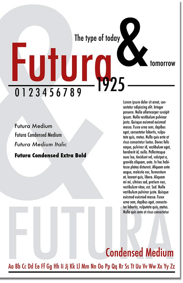 Futura Typeface on Behance