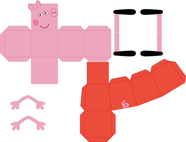 Peppa Pig Paper Toy on Behance