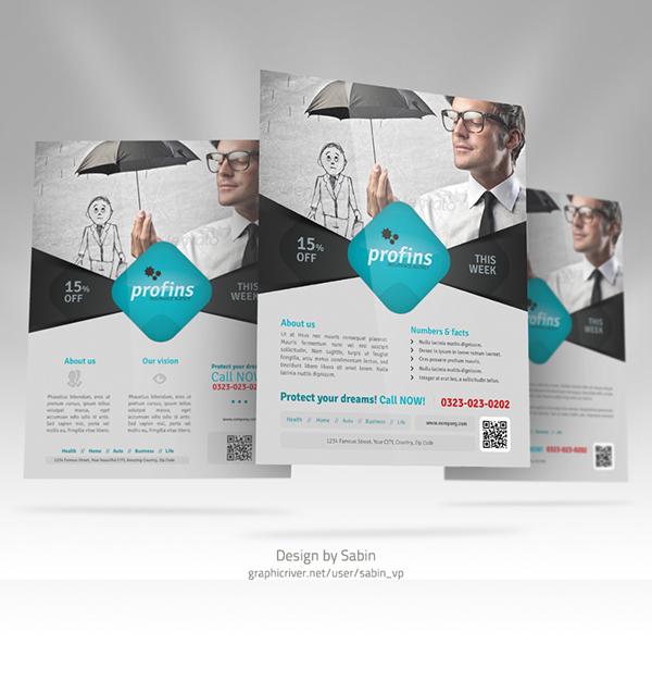 Insurance Flyer Template On Behance - Insurance brochure template