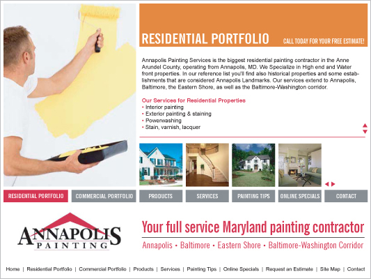 Annapolis Painting Website on Behance