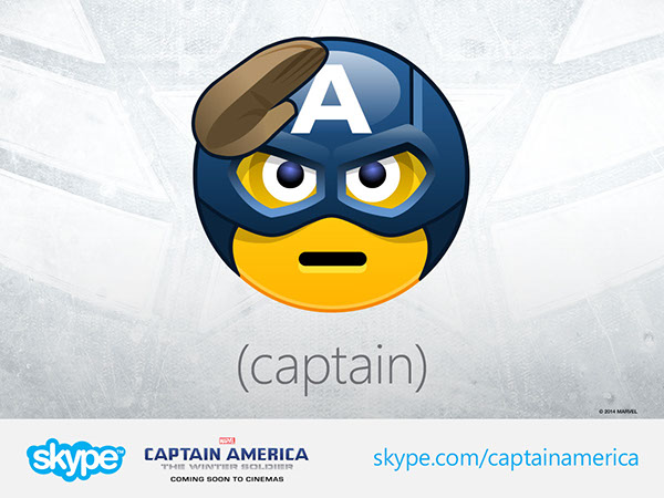 Captain America Skype Emoticons on Behance