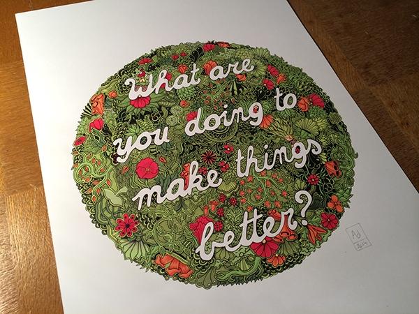 doodle print paper