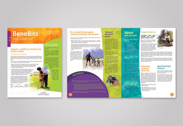 employee wellness program collateral rebrand on behance