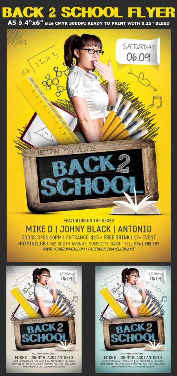 Back To School Party Flyer Template On Behance