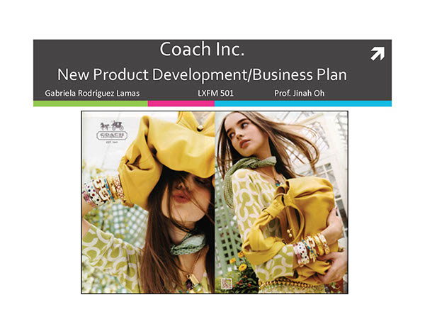 New product development for coach inc on scad portfolios for Product design inc