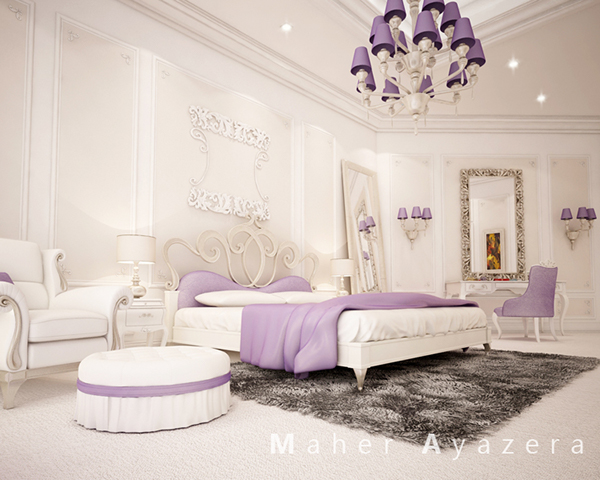 Bedroom new classic scene on behance for Scene bedroom designs