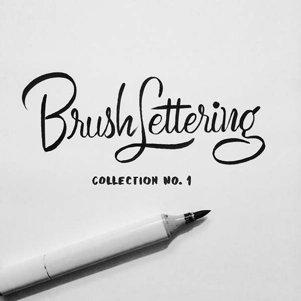 Brush Lettering Collection No. 1 on Behance