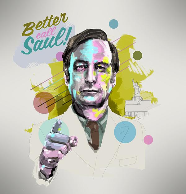 Saul Goodman Portrait On Behance