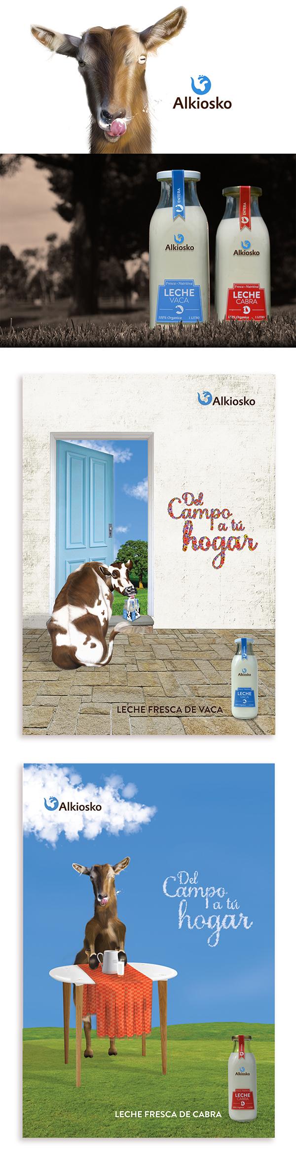 leche cabra Vaca milk goat