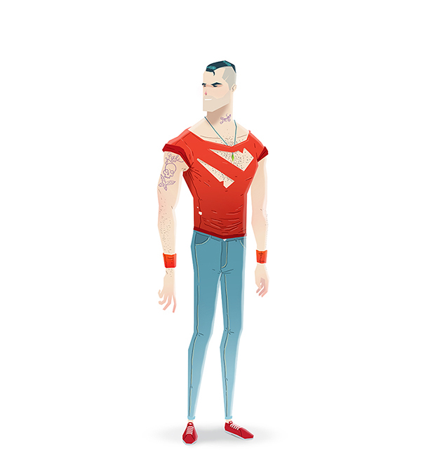 Adobe Portfolio marvel dc redesign superman spider-man batman wonder woman Flash logan Hulk rock rockers Aquaman Thor