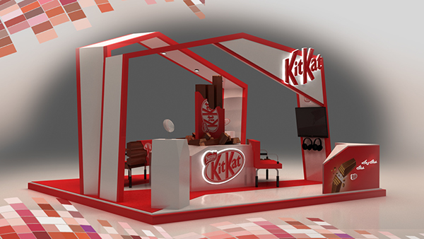 D Models Collection Exhibition Amp Event : Kitkat booth on behance