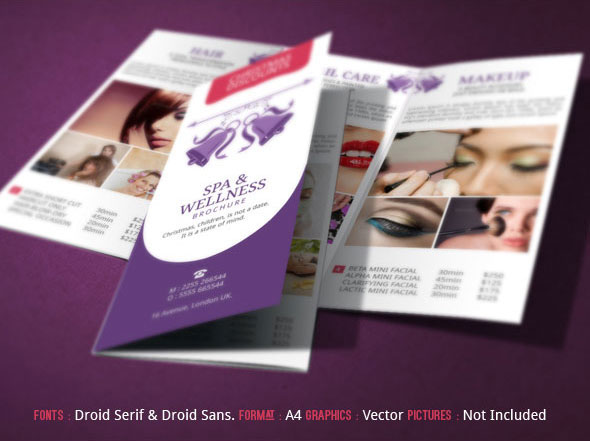 Spa Brochure Design  Christmas Deals On Behance