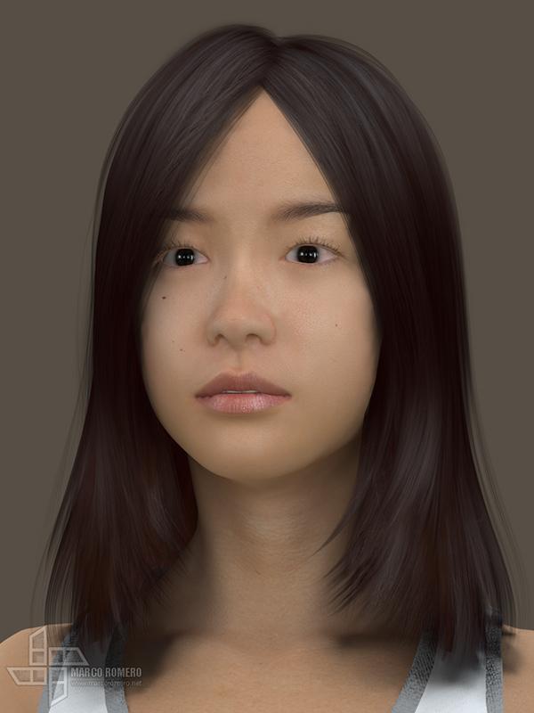 3D Asian Girl for Health App on Behance
