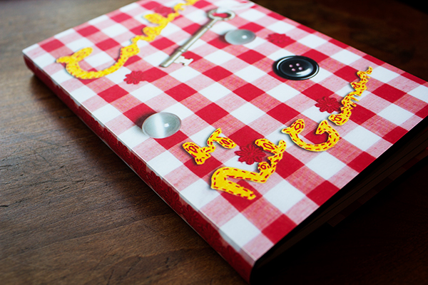 neil gaiman Coraline book cover sewing