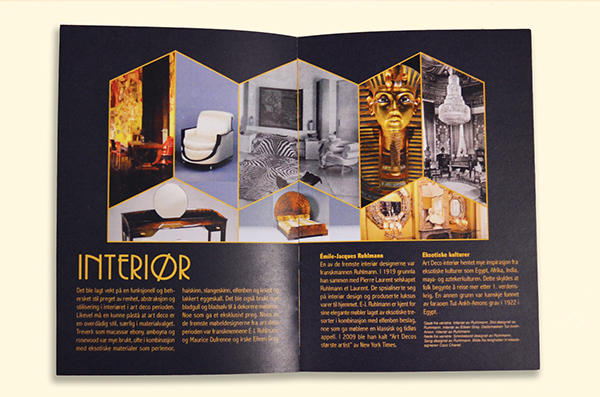 art deco brochure on behance