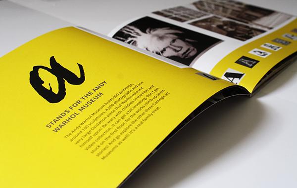 Pittsburgh logos alphabet ABC's Layout Booklet saddle stitch