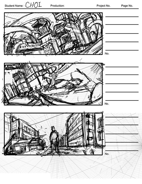 portfolio 1   storyboarding class    draw 206 on scad portfolios