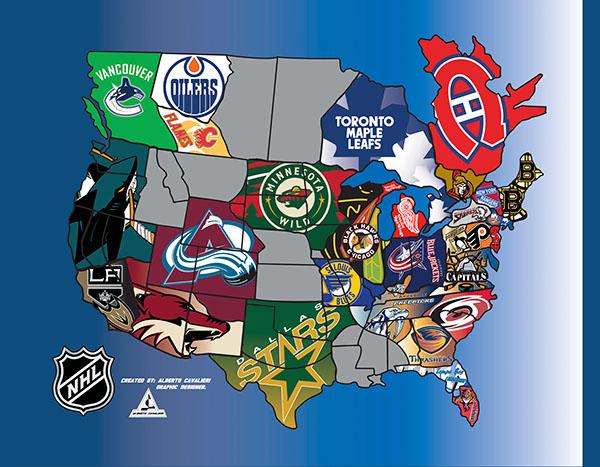 NHL FAN MAP on Behance
