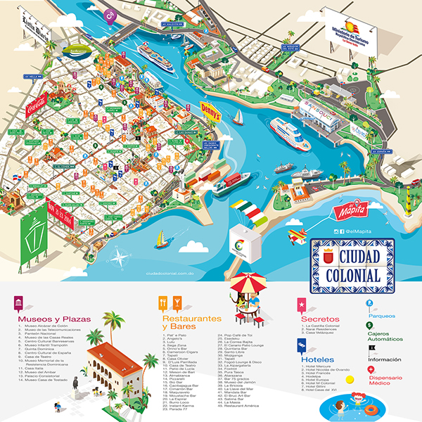 Isometric Map 2014 El Mapita Colonial Zone on Behance