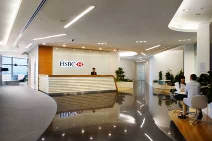 Hsbc Office Interior Graphics Amp Signage Design On Behance
