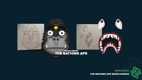 Character Design Job London : The bathing ape bape character design on behance