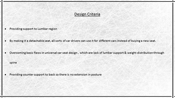 Lumbar Seat Ergonomics Project On Philau Portfolios