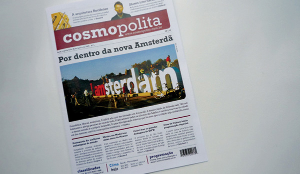 jornal newspaper Acadêmico cosmopolita impresso tabloide