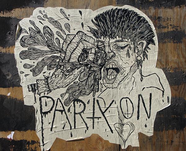 linocut  relief print Oil Ink illpinto  Brooklyn wheatpaste