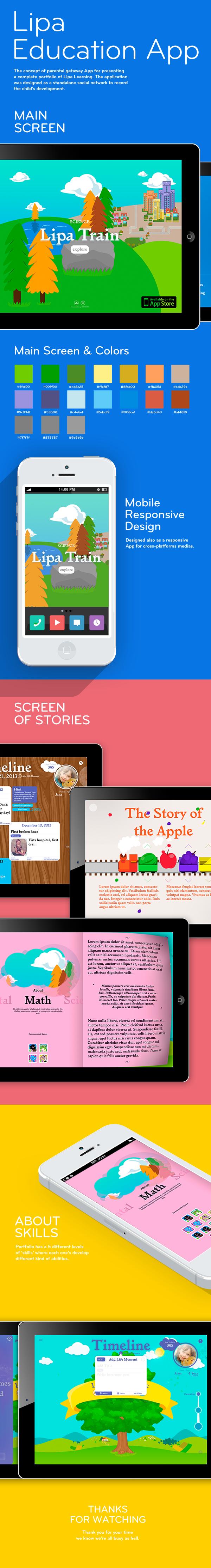 app design UX design Lipa Learning Education Responsive Design