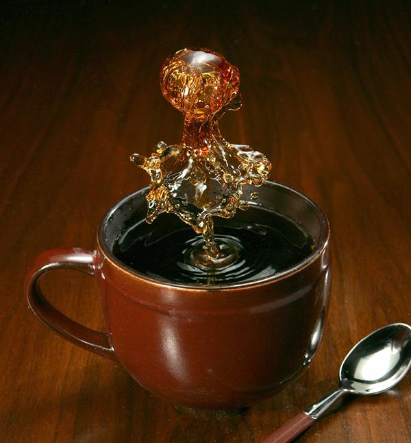 Coffee, SPLASH, liquid, splash photography,High Speed, flash, Jack Long,liquid art,fluid,single capture