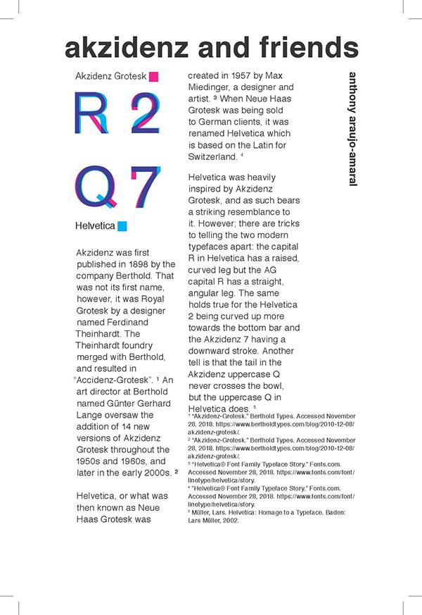 Typeface Comparison: Akzidenz Grotesk & Helvetica Neue on