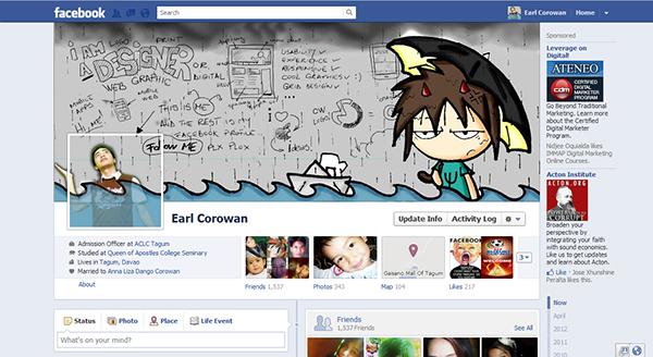 facebook fan page on behance