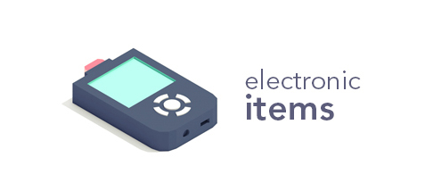 Isometric 3D vray c4d electronic Items design