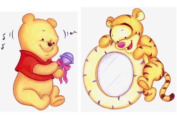 Winnie Pooh y Tiger de bebé - Imagui
