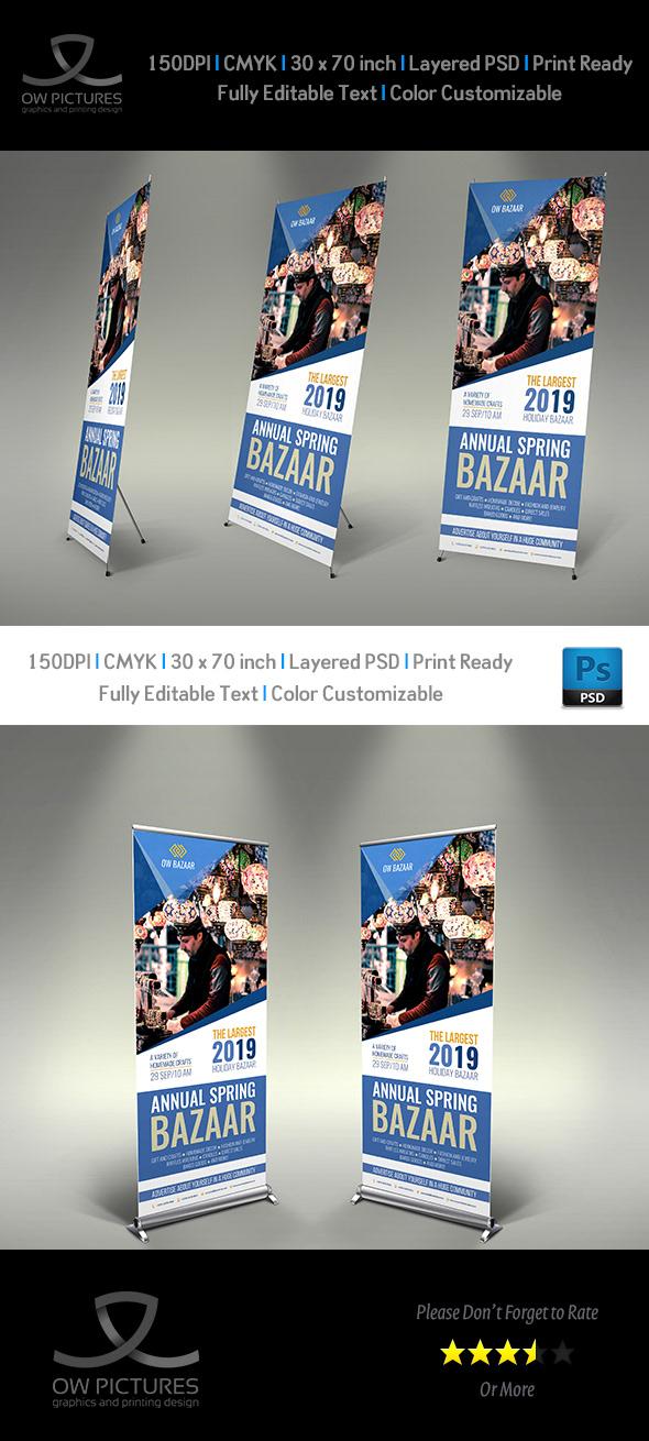 Bazaar Signage Roll Up Banner Template on Behance