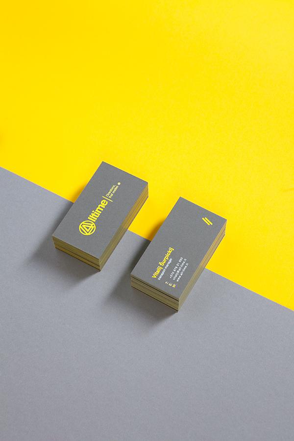 Logistics yellow road Truck car business card corporate identity envelop Stationery folder stamp box brand minimal