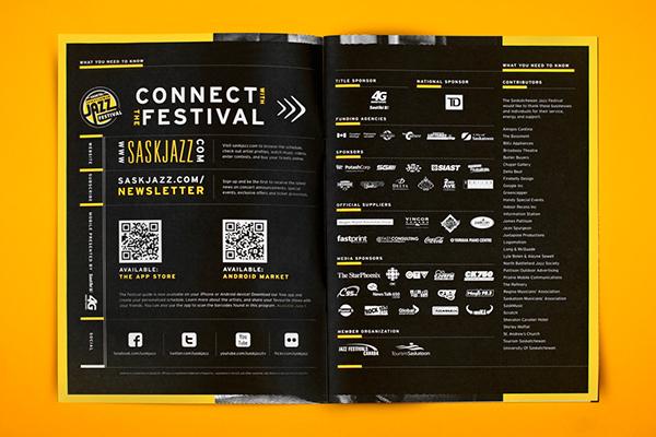Music Festival jazz festival pattern yellow Saskatchewan Jazz Fesitval poster Booklet Program iphone app Lanyard
