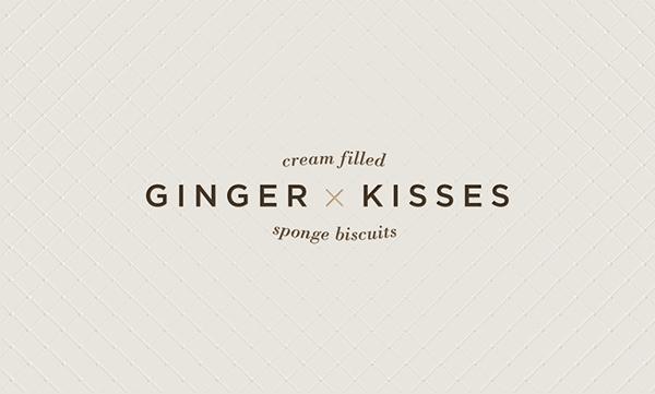 Ginger Kisses Food Packaging redesign