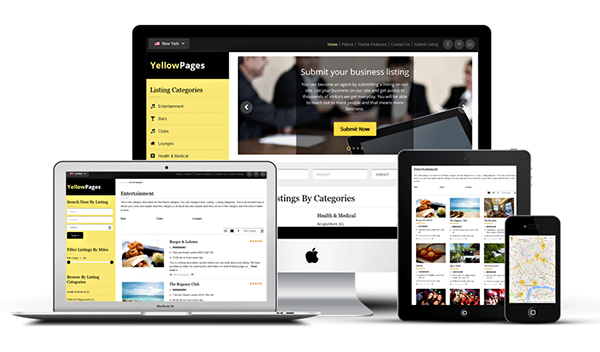 Yellow pages wordpress responsive directory theme on behance cheaphphosting Choice Image