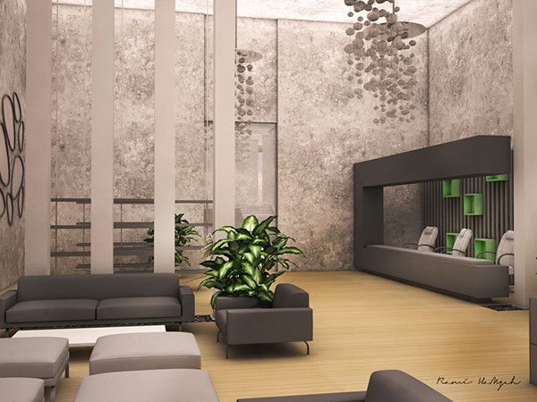 modern restaurant interior perspectives on behance