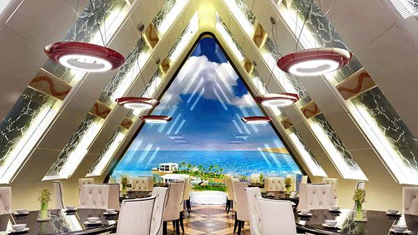 Tourist Resort In Ras Al Khaimah Uae On Pantone Canvas